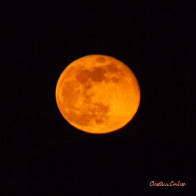 Super lune. Mercredi 8 avril 2020, 21h33mn48s. Cénac, Gironde, France.