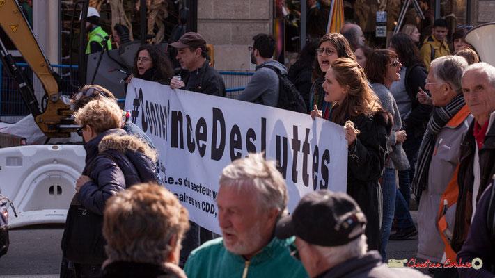 14h50 #ConvergenceDesLuttes. Manifestation intersyndicale de la Fonction publique/cheminots/retraités/étudiants, place Gambetta, Bordeaux. 22/03/2018