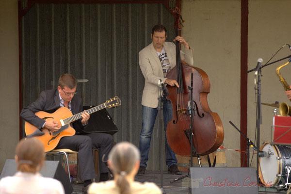 David Blenkhorn, Olivier Gatto; Alex Golino & David Blenkhorn Quartet, Festival JAZZ360 2012, château Roquebrune, Cénac, samedi 9 juin 2012