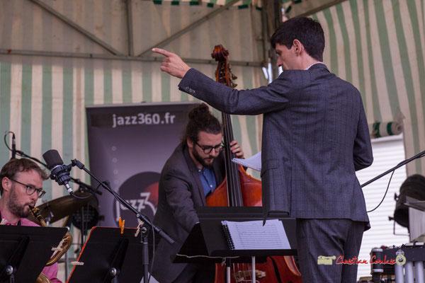 Mathieu Tarot; Big Band du Conservatoire Jacques Thibaud. Festival JAZZ360 2019, parc du château de Pomarède, Langoiran. 06/06/2019