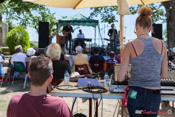 Charlotte Léric, équipe technique rebelle ? Soul Jazz Rebels. Festival JAZZ360, 10 juin 2017, Camblanes-et-Meynac