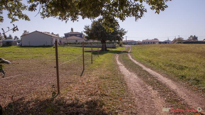 Verso Chemin de Mons, vers l'avenue de Lignan. Cénac, Gironde. 16/11/2017