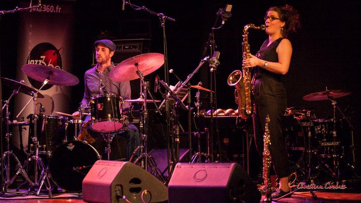 Pierre Demange, Camille Maussion ; Nefertiti Quartet. Festival JAZZ360, Cénac. Samedi 5 juin 2021. Photographie © Christian Coulais