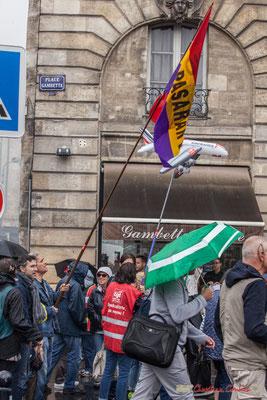 """CGT Air france """"Syndicaliste pas voyou"""" Manifestation contre la réforme du code du travail. Place Gambetta, Bordeaux, 12/09/2017"""