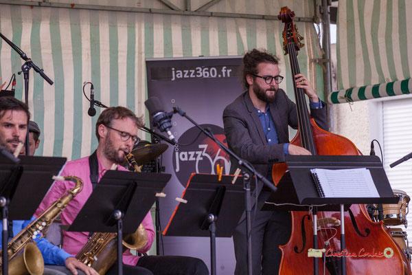 Jérôme Mascotto, Louis Laville; Big Band du Conservatoire Jacques Thibaud. Festival JAZZ360 2019, parc du château de Pomarède, Langoiran. 06/06/2019