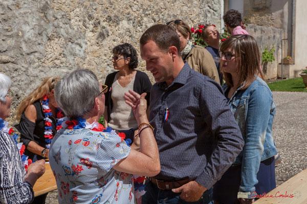 Florian Subra, Château Belrose-Moncaillou. Tous avec Martine...Faure et Jean-Marie Darmian pour fêter 10 ans de députation et un jubilé d'engagements politiques. 14 mai 2017, Blasimon