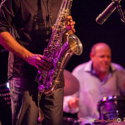 Saxophone de David Prez; Vincent Bourgeyx Quartet. Festival JAZZ360 2018, Cénac. 09/06/2018