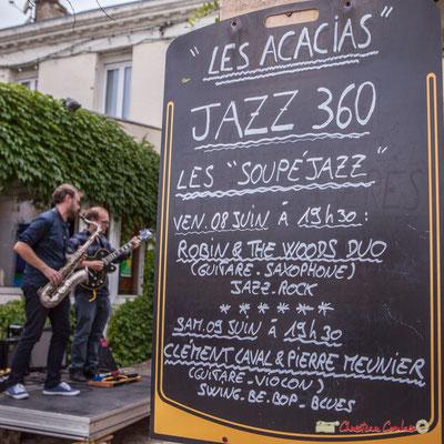Deux dîners-concerts au Restaurant Les Acacias, Cénac, lors du Festival JAZZ2018. 08/06/2018