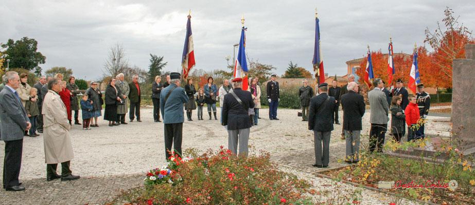 Hommages et commémoration de l'Armistice du 11 novembre 1918 à Cénac, ce mardi 11 novembre 2008.