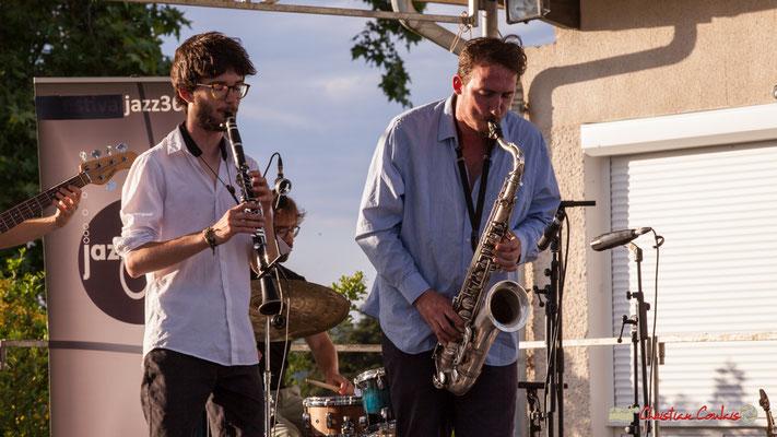 Clément Meunier, Louis Billette; Oggy & The Phonics. Festival JAZZ360 2018, Langoiran. 07/06/2018