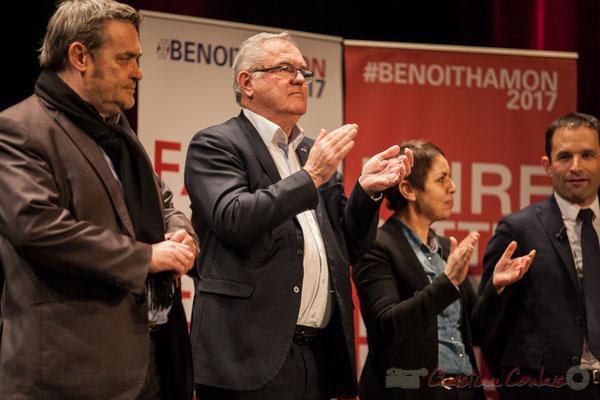 Pascal Lafargue, Jean-Marie Darmian, Naïma Charaï, Benoît Hamon, Théâtre Fémina, Bordeaux