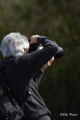 Christian Coulais en action. Réserve ornithologique du Teich, samedi 16 mars 2019
