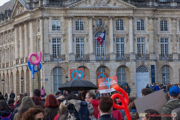 Manifestation du 1er mai 2017, avec la France Insoumise, place de la Bourse, Bordeaux