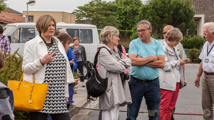 Catherine Veyssy, Maire de Cénac; Odile Roux-Duffaud, Handivillage 33; Richard Raducanu, Président de JAZZ360, 10/06/2016