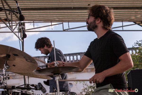 Marton Kiss; Oggy & The Phonics. Festival JAZZ360 2018, Langoiran. 07/06/2018