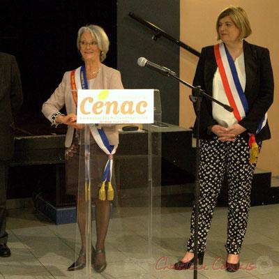 Simone Ferrer, Maire honoraire de Cénac, Catherine Veyssy, Maire de Cénac. Honorariat des anciens Maires de Cénac, vendredi 3 avril 2015