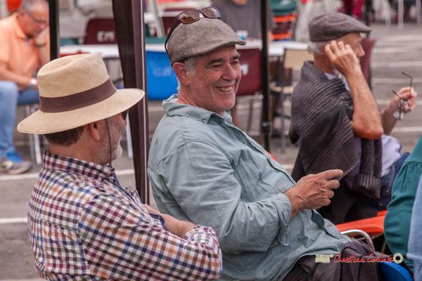Francis Henry, Jean-Paul Robert, bénévoles du Festival JAZZ360, Swing Home Trio, Camblanes-et-Meynac. 08/06/2019