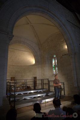 Richard Raducanu, élu en charge du Festival JAZZ360 2012, église Saint-André, Cénac. 08/06/2012