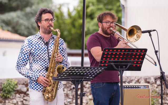 Vincent Périer, Simon Girard ; Cissy Street. Festival JAZZ360 2021, Quinsac, dimanche 6 juin 2021. Photographie © Christian Coulais