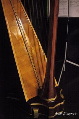 Détail de la harpe de Sandrine Sélinger, photographié par Gaël Moignot. Les Diapasons de l'AMAC, samedi 2 février 2019
