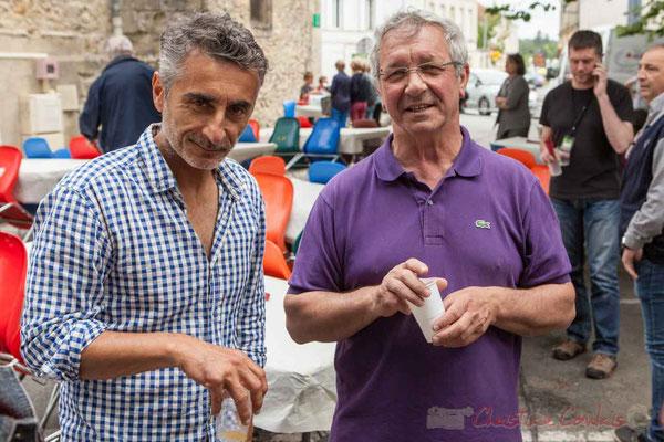 Vincent Michelet, élu à Latresne; Bernard Capdepuy, élu à Quinsac. Festival JAZZ360 2016, Camblanes-et-Meynac, 11/06/2016