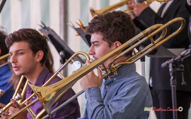 Maxime Chevalier; Big Band du Conservatoire Jacques Thibaud. Festival JAZZ360 2019, parc du château de Pomarède, Langoiran. 06/06/2019