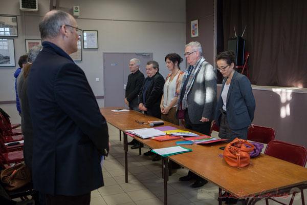 Minute de silence à la mémoire de Pierre Garmendia, ancien Député-maire de Floirac et président-fondateur de la Mission locale Rive Droite.