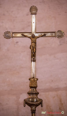 Croix de procession. Eglise Saint-André, Cénac. 28/04/2018
