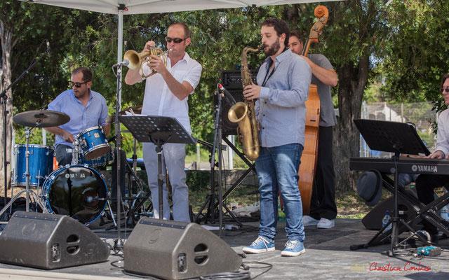 Lionel Ducasse, Jérôme Dubois, Paul Robert, Jérôme Armandie, Nicolas Lancia, Quintet On Lee Way, Festival JAZZ360, Quinsac, 11/06/2017