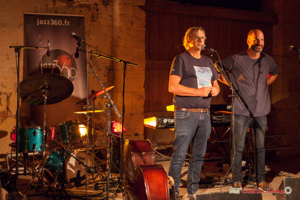 Richard Raducanu, Président de JAZZ360, présente Laure sanchez Quintet. Domaine de Sentout, Lignan-de-Bordeaux, 07/09/2018
