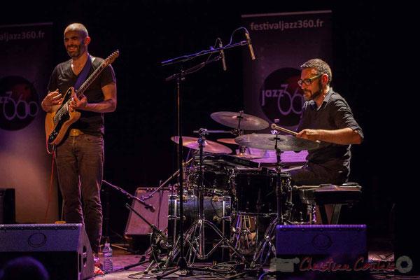 Philippe Gordiani, Nicolas Larmignat, Sylvain Rifflet Quartet, Festival JAZZ360 2016, Cénac, 10/06/2016