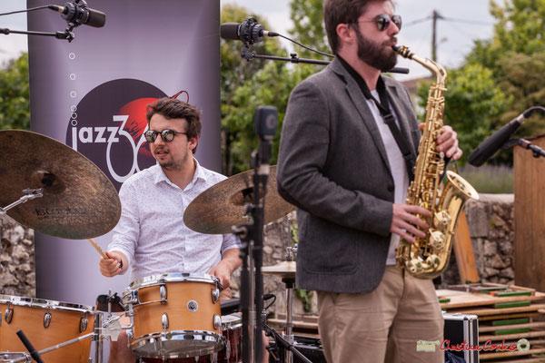 Nicolas Girardi, Jonathan Bergeron; Atelier Jazz du conservatoire Jacques Thibaud. Festival JAZZ360 2018, Quinsac. 10/06/2018