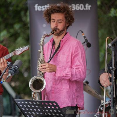 Alexis Valet Quartet : Brice Matha. Festival JAZZ360 2016, Quinsac, 12/06/2016