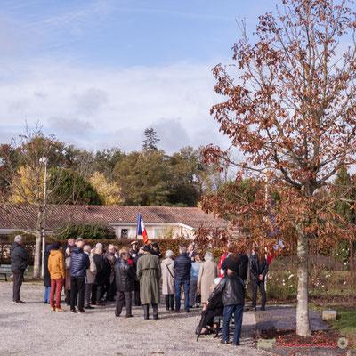 Quatre-vingt-dix-neuvième commémoration du 11 novembre 1918, commune de Cénac. 11/11/2017