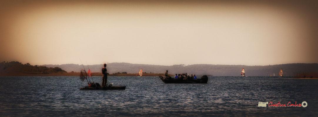 """""""Boatman & boatpeople"""" Sortie en voile, sur un multimono de l'Association la Companhia, Lac de Sanguinet. 28/09/2019"""
