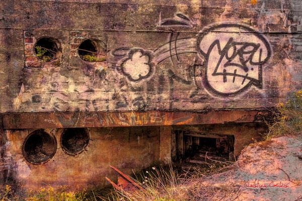 """""""Meurtr'hier 1"""" Bunker, batterie des Arros, mur de l'Atlantique, Soulac-sur-Mer. Samedi 3 juillet 2021. Photographie © Christian Coulais"""