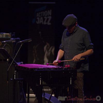 Félix Robin du quartet Capucine. Tremplin Action Jazz 2017. Le Rocher de Palmer, Cenon