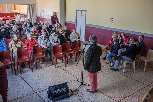 Haux commune de 732 hab. Nathalie Aubin, Maire de Haux, vœux aux administré-es le 14 janvier 2017
