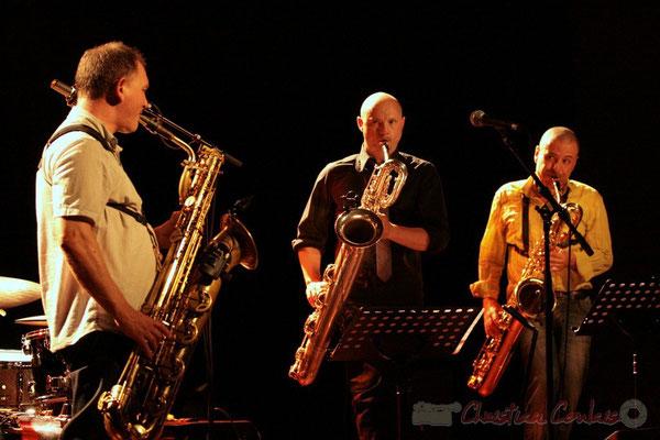 Francis Mounier, Guillaume Schmidt, Alain Coyral; Fédération Française de Baryton (FFB), Festival JAZZ360, Cénac. 05/06/2011