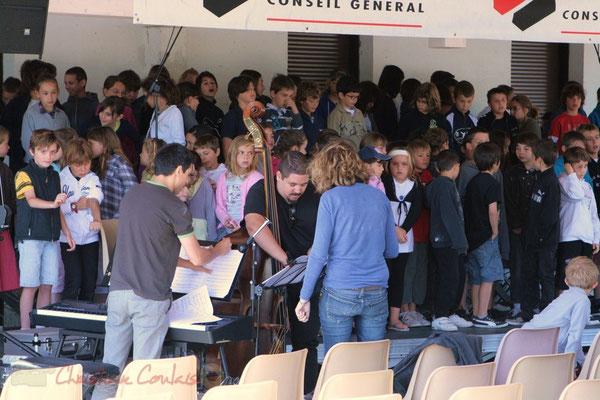 Répétition JazzEcole, Festival JAZZ360 2011, Les coulisses du Festival à Cénac. 01/06/2011