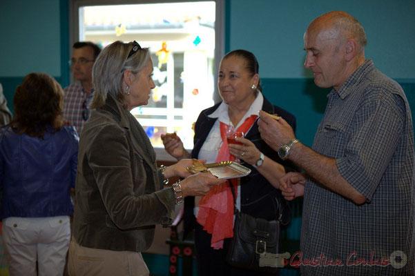 Simone Ferrer, Maire de Cénac; Martine Faure, Députée de la Gironde; Marc Boussange, élu Cénac. Festival JAZZ360 2012, Cénac, samedi 9 juin 2012