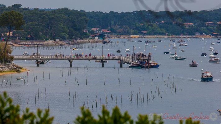 L'embarcadère du Canon, depuis le village de l'Herbe, presqu'île du Cap Ferret, Gironde