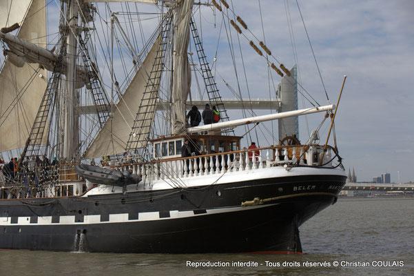 A Le Belem (1896) est un des plus anciens trois-mâts en Europe en état de navigation et le second plus grand voilier restant en France. Bordeaux, samedi 16 mars 2013