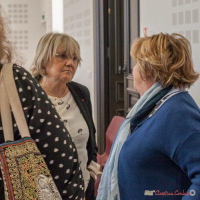 """Martine Jardiné, Françoise Cartron. Sortie et dédicace du livre """"Le jour où..."""" de Jean-Marie Darmian, Créon. 14/10/2017"""