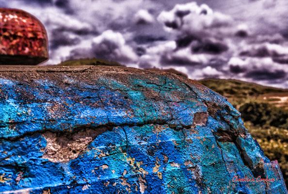 """""""Usure du temps 2"""" Bunker, batterie des Arros, mur de l'Atlantique, Soulac-sur-Mer. Samedi 3 juillet 2021. Photographie © Christian Coulais"""