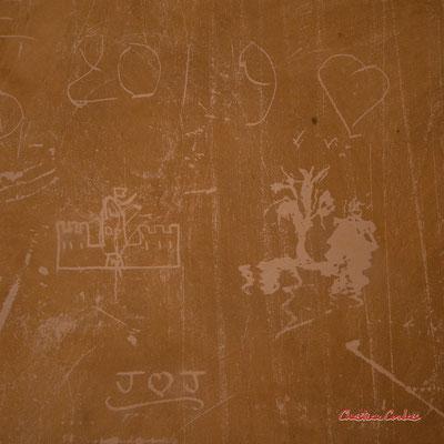 """""""Graffitis"""" Château de Chaumont-sur-Loire, Loir-et-Cher, Région Centre-Val-de-Loire. Lundi 13 juillet 2020. Photographie © Christian Coulais"""