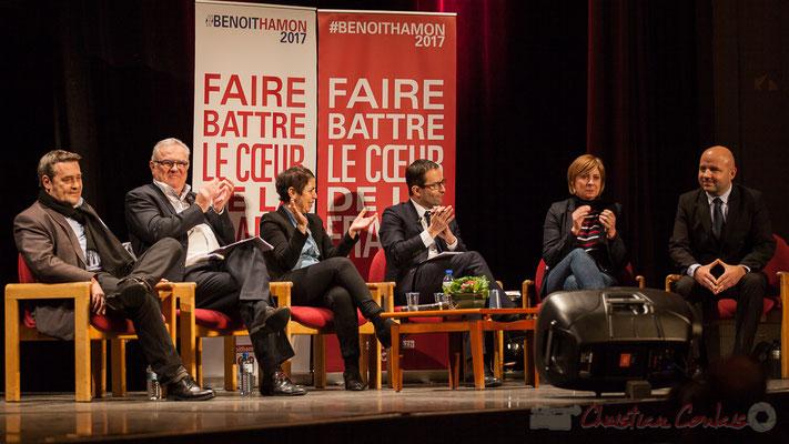 3 Pascal Lafargue, Jean-Marie Darmian, Naïma Charaï, Benoît Hamon, Andréa Kiss, Matthieu Rouveyre, Théâtre Fémina, Bordeaux