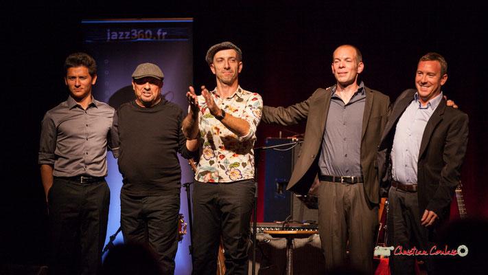 Joris Seguin, Pascal Fallot, Rix (Eric Delsaux), Jérôme Dubois, Robin Dietrich; The Rix'tet, soirée club JAZZ360, Cénac. 05/10/2019