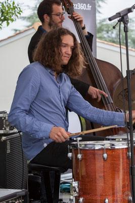 Alexis Valet Quartet : Jéricho Ballan, Aurélien Gody. Festival JAZZ360 2016, Quinsac, 12/06/2016
