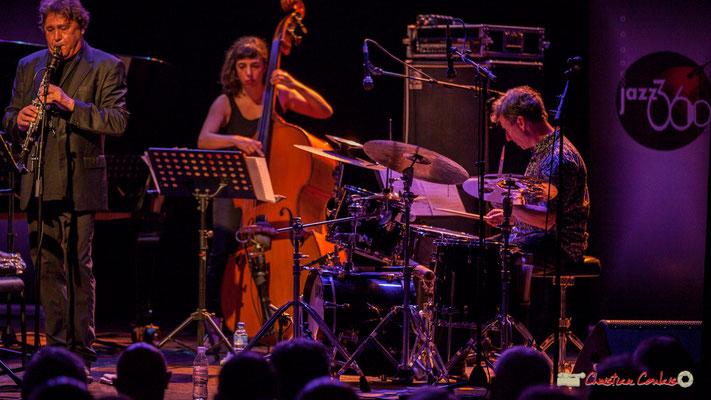 """Louis Sclavis, Sarah Murcia, François Merville; Louis Sclavis Quartet """"Characters on a wall"""". Festival JAZZ360 2018, Cénac. 08/06/2018"""